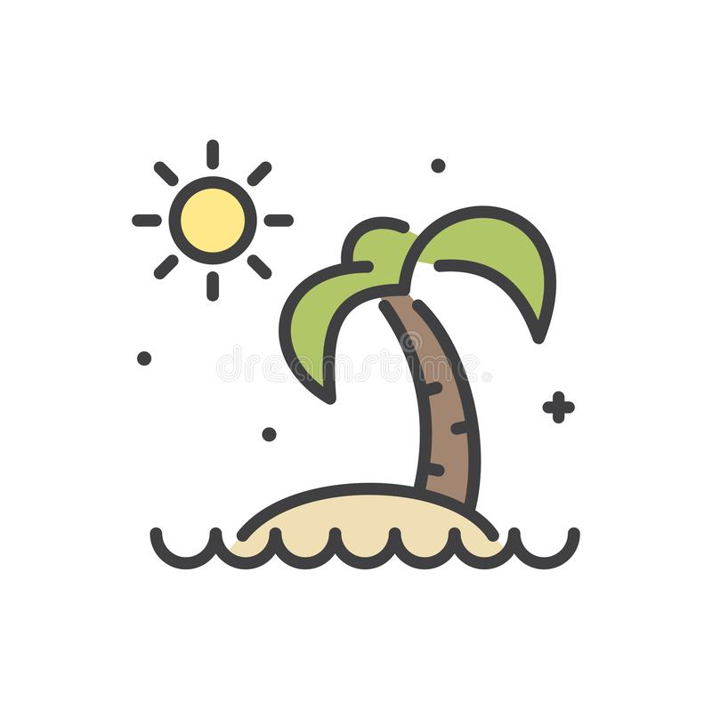 Summer line icon on white background for graphic and web design, Modern simple vector sign. Internet concept. Trendy symbol for stock illustration