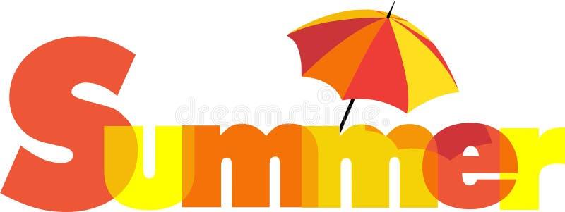 Summer Logo with Umbrella. Summer Logo sign with Umbrella vector illustration