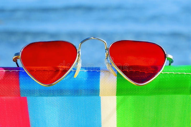 Summer love on the beach stock images