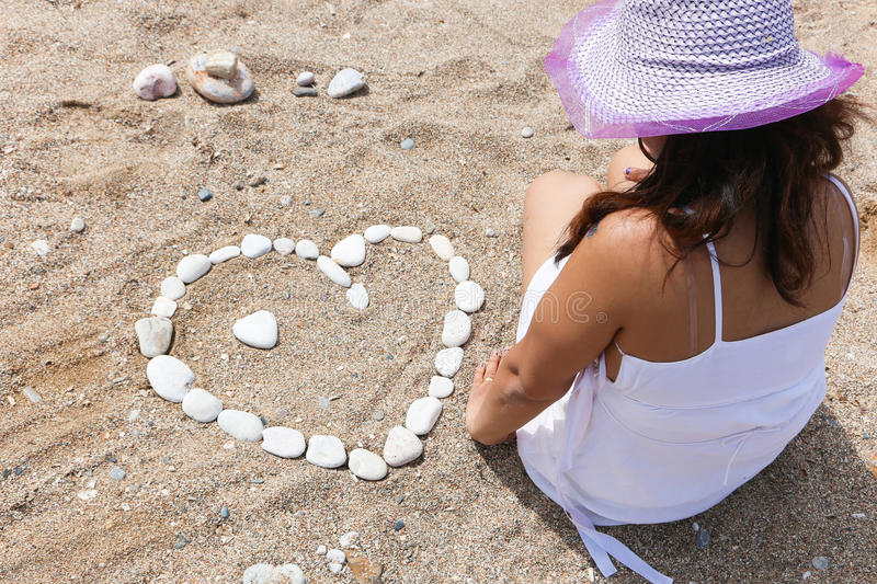 Summer Lovers. Love Summer, Young Lovers at the beach in Athens, Greece royalty free stock image