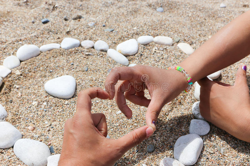 Summer Lovers. Love Summer, Young Lovers at the beach in Athens, Greece stock photos