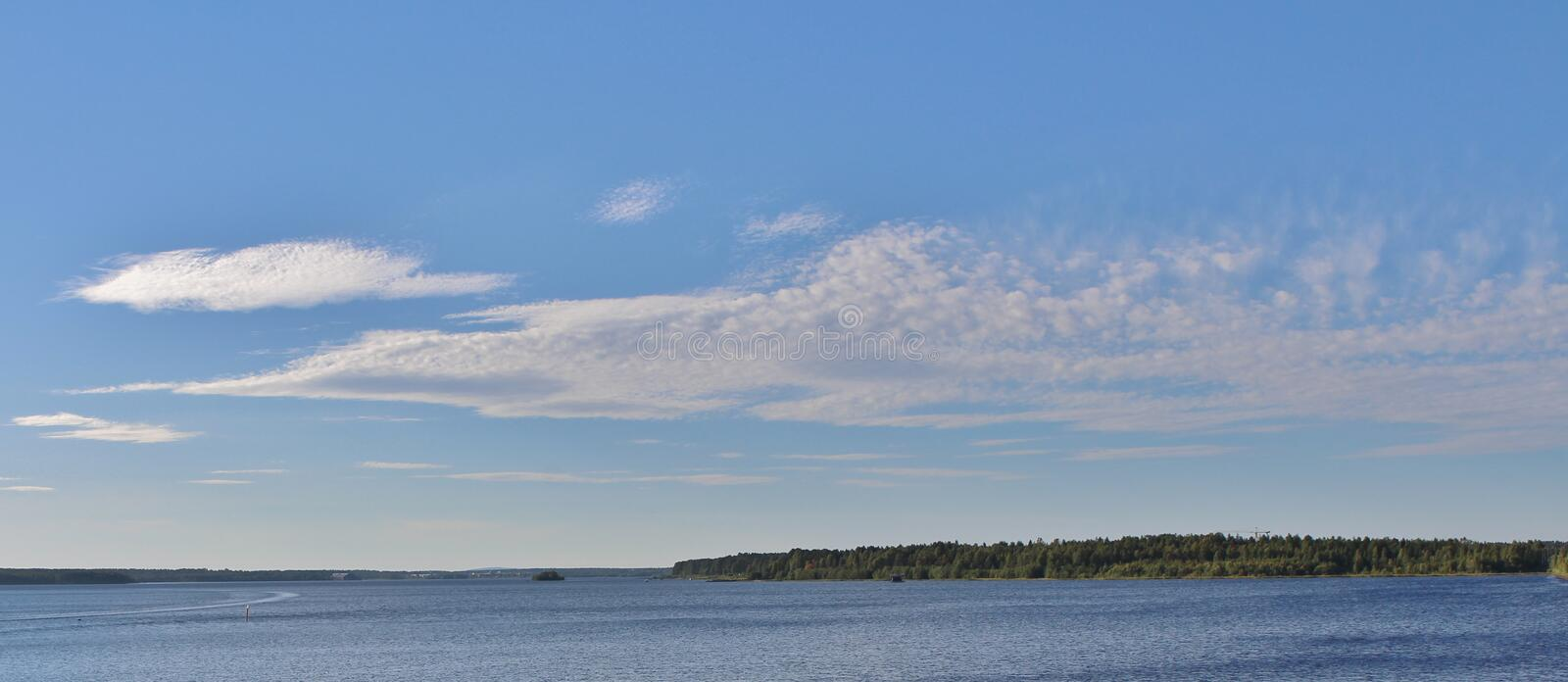 Summer in Luleå. A beautiful summer evening in Lule royalty free stock photo