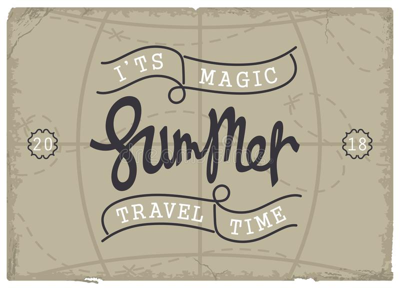 Summer. It is magic travel time. stock illustration