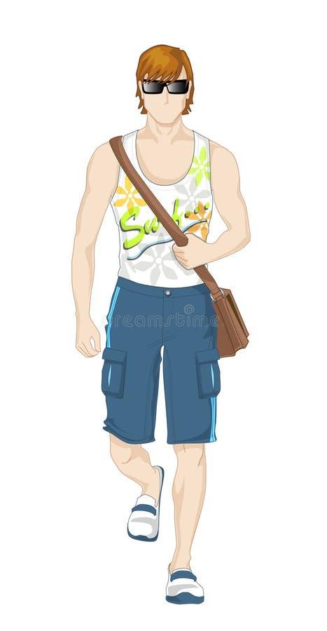Download Summer man stock vector. Image of sunshine, shoulder - 14936653