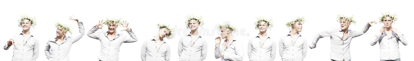 Download Summer man set stock photo. Image of white, look, camomile - 10759680