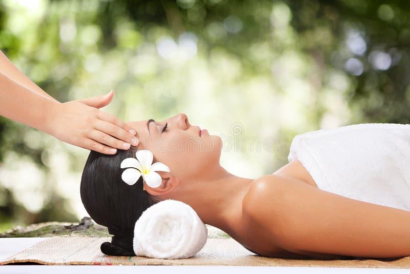 Summer massage stock images