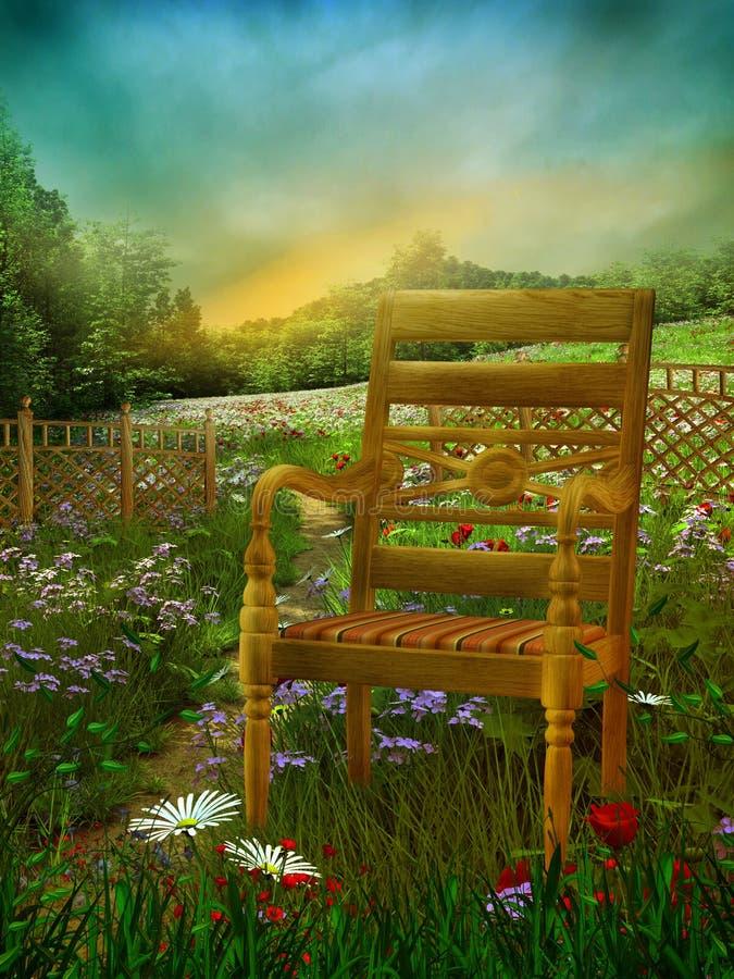 Summer meadow 1 royalty free illustration