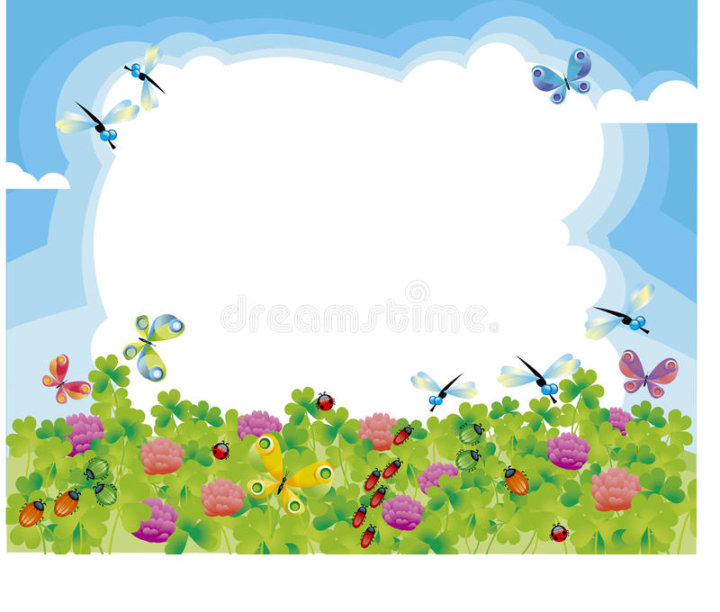 Download Summer meadow stock vector. Illustration of white, bright - 22945726