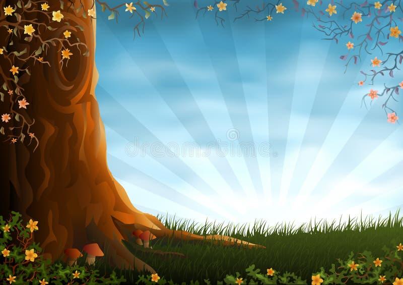 Summer meadow royalty free illustration