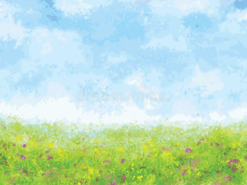 Summer meadow impression, vector illustration. Summer meadow impression, vector art illustration royalty free illustration