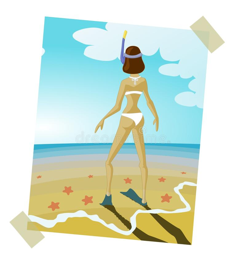 Summer memory royalty free stock images