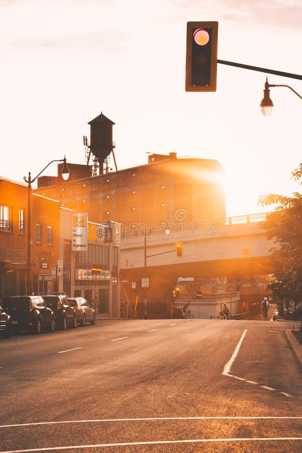 Summer in Montreal - Mile End stock photo
