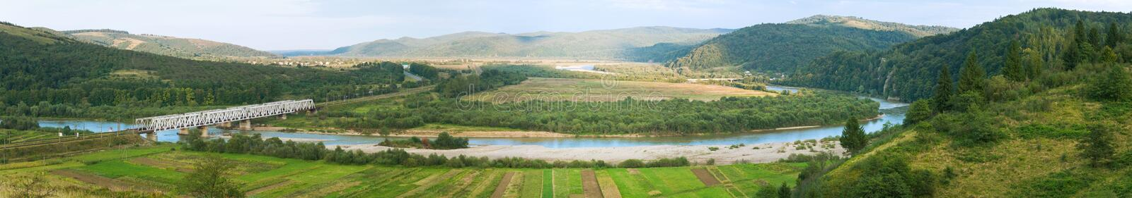 Summer morning foothills panorama royalty free stock photography