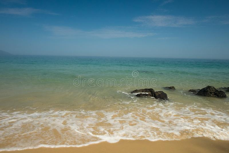 Summer Morning at Punta Negra Beach royalty free stock image