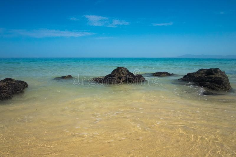 Summer Morning at Punta Negra Beach royalty free stock photo