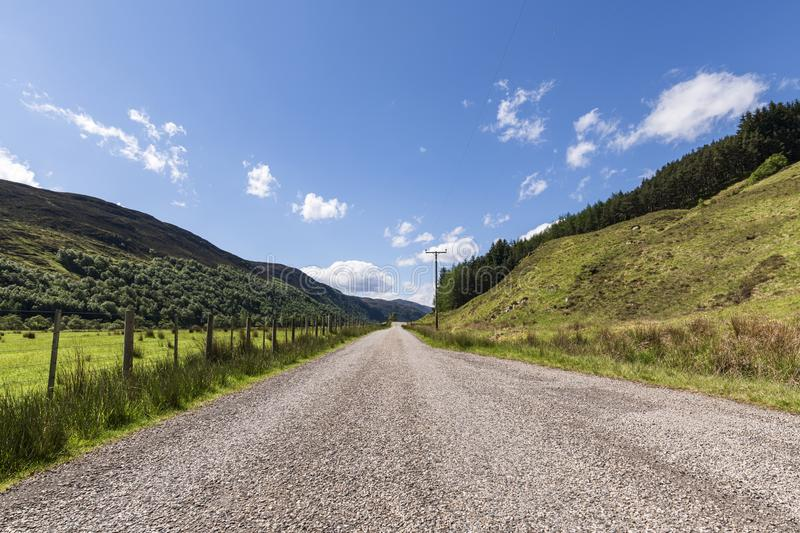 Strathconon. A summer morning road trip through pastoral Strathconon, Ross and Cromarty, Scotland royalty free stock photography