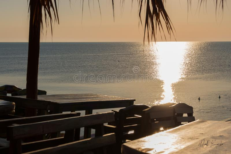 Summer morning on the sea. Summer morning on the, sea, relax, chill royalty free stock photos