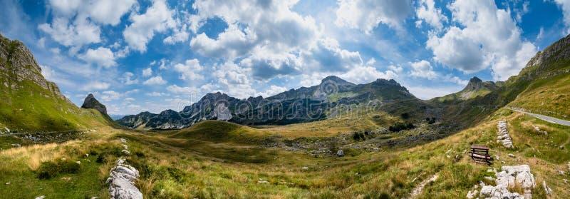 Summer mountain Durmitor National Park, Montenegro. Durmitor panoramic road, Sedlo pass royalty free stock image