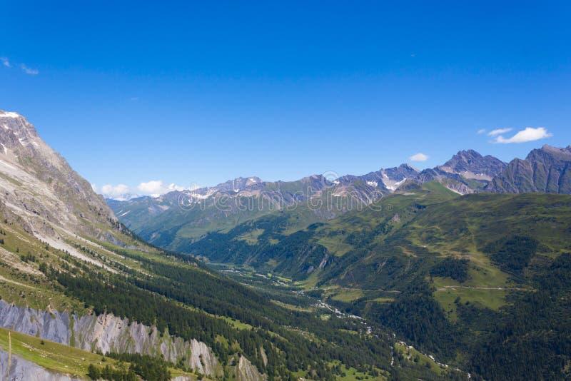 Slopes of Mount Blanc Massif - Summer Mountain royalty free stock photo