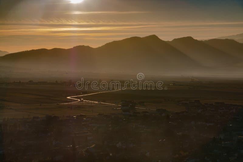 Summer mountains landscape in Transylvania, Romania royalty free stock photos
