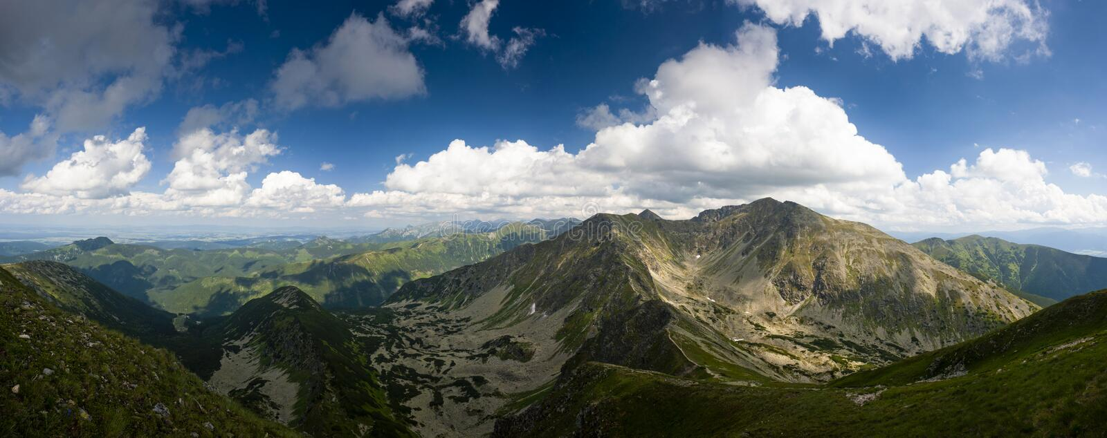Summer mountains panorama royalty free stock images