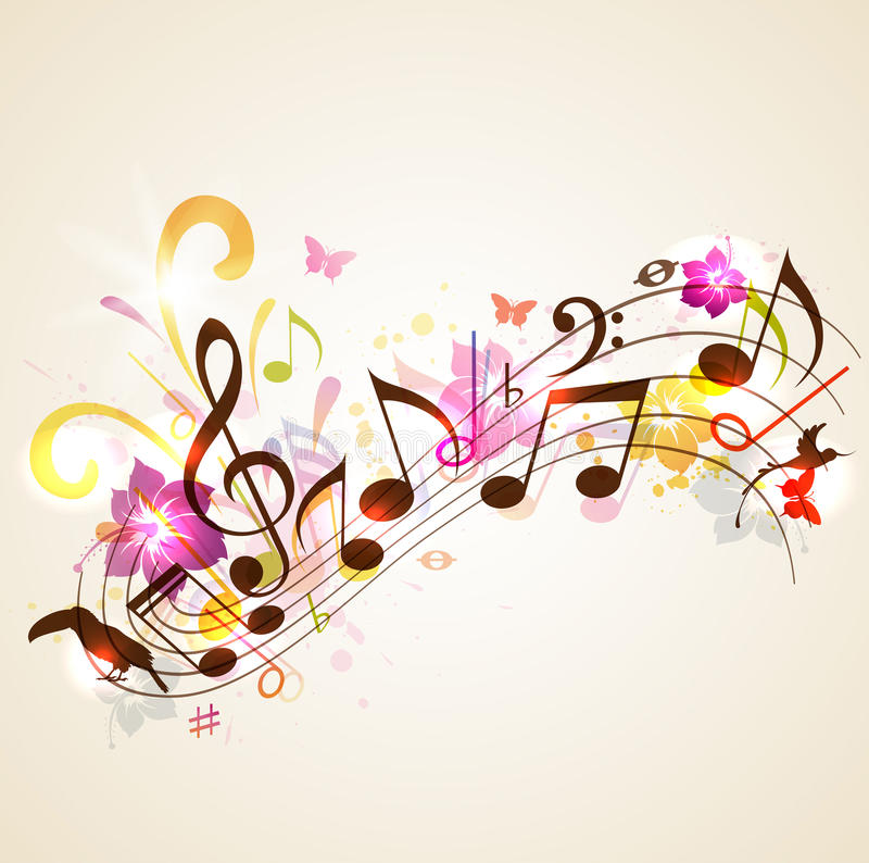 Summer Music Background Stock Vector. Illustration Of