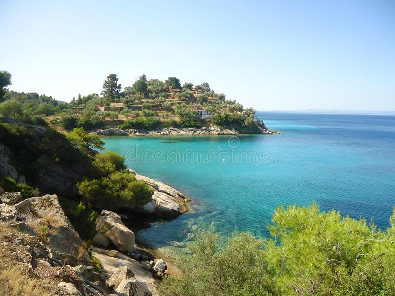 Summer nature in Greece, Europe stock photos