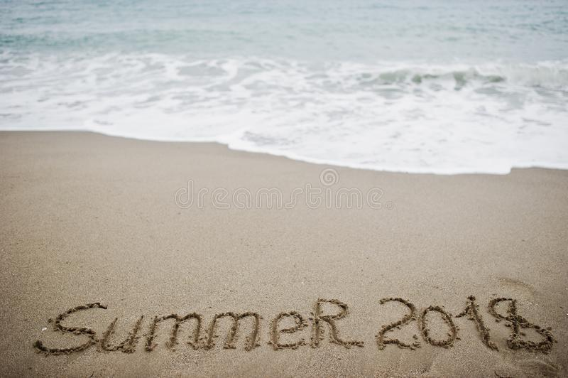 Marvelous Download Summer 2018. New Year 2018 Is Coming Concept. Sea And Sand. Stock