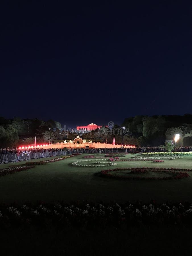 Summer Night Concert Schönbrunn. Is an annual outdoor concert in Vienna held by the Vienna Philharmonic. The venue for the concert is the Schönbrunn stock photo