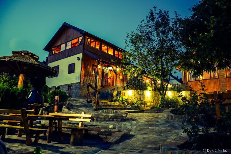 Summer night in Fruskogorska lugarnica, Mala Remera Serbia stock images