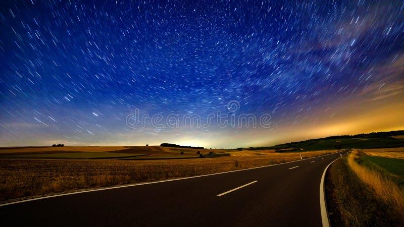 Summer Night Sky and Polaris royalty free stock photo
