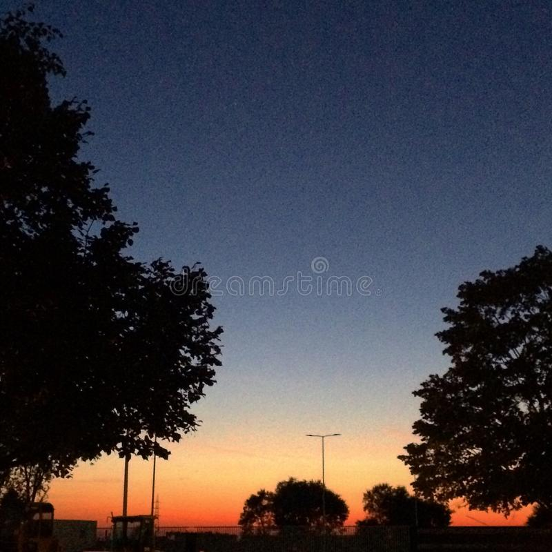Summer nights royalty free stock photography