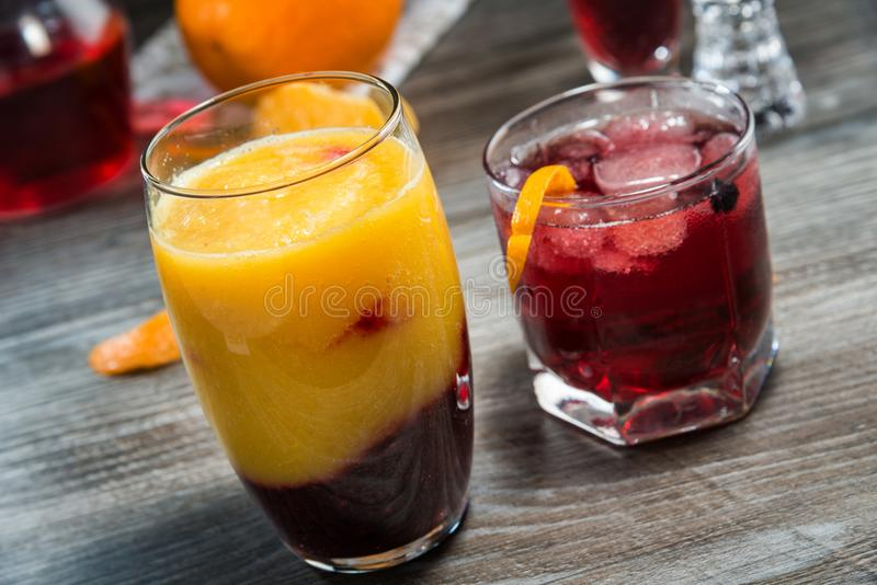 Summer non-alcoholic drinks stock images
