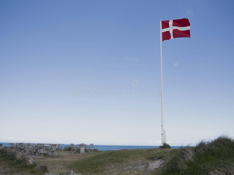 Summer by the North Sea stock photography