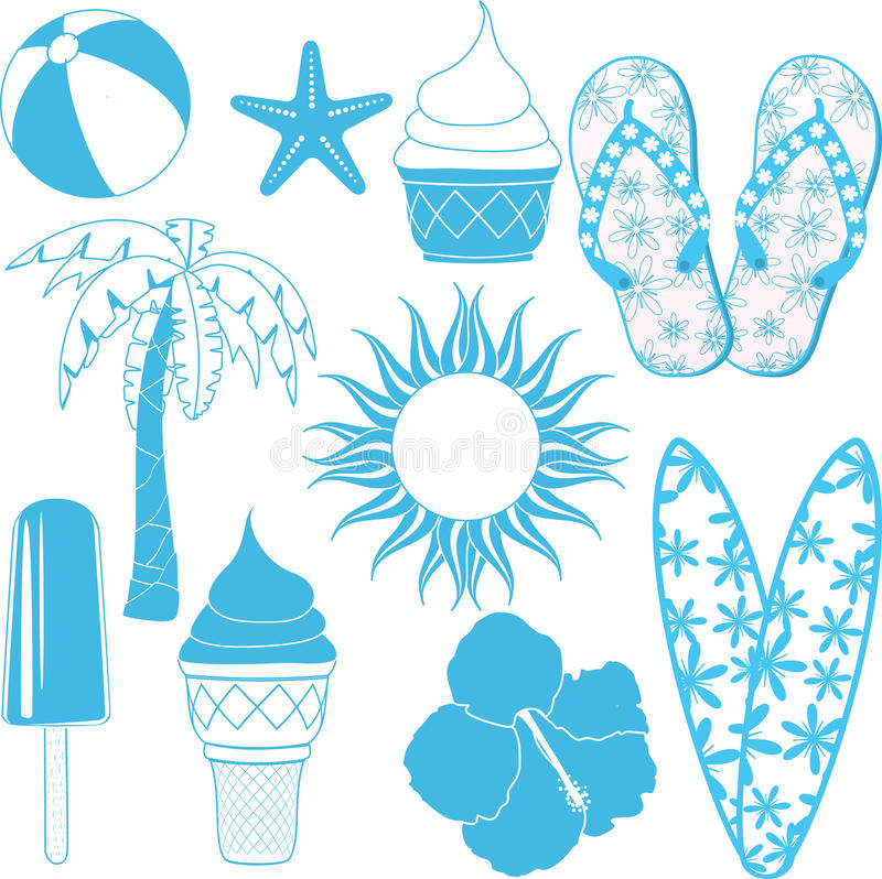 Free Summer Objects Royalty Free Stock Image - 19623976