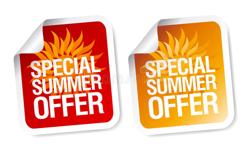 Summer offer stickers. royalty free illustration