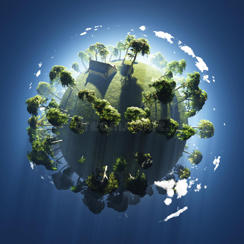 Free Summer On Small Green Planet Stock Image - 12808921