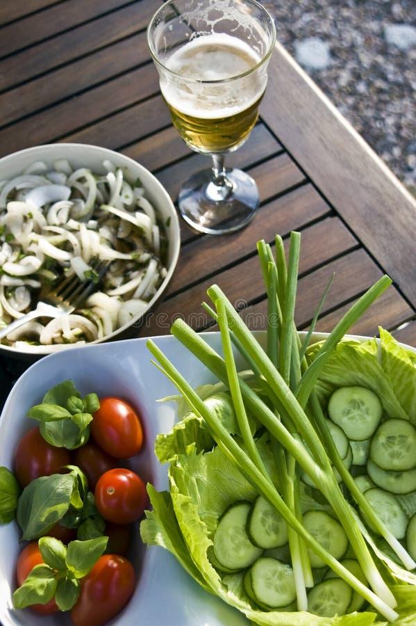 Summer outdoor salad stock image