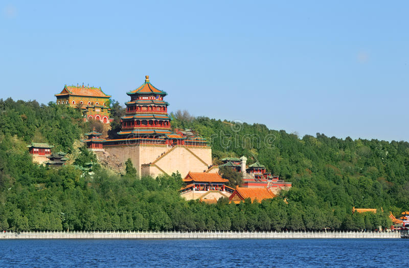 Summer palace in autumn. The summer palace in autumn. China's existing largest and best preserved imperial garden in China's four most famous gardens (the other stock image