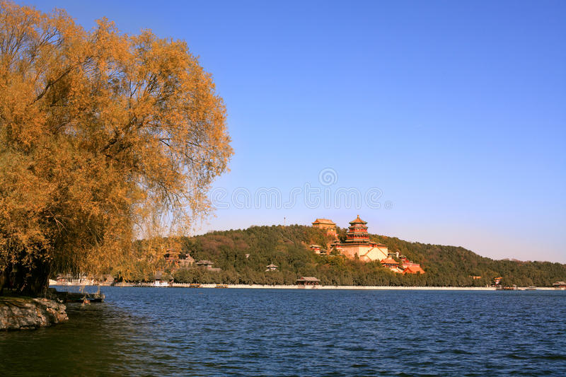 Summer palace in autumn. The summer palace in autumn. China's existing largest and best preserved imperial garden in China's four most famous gardens (the other royalty free stock photos