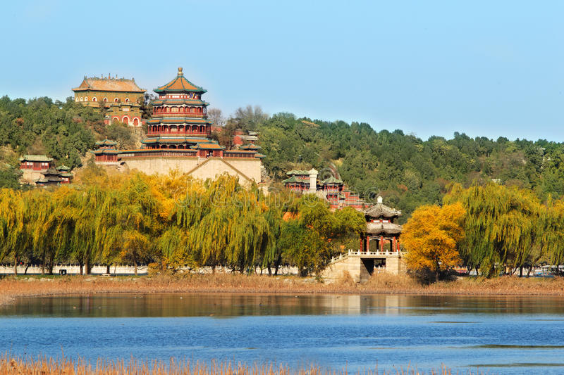 Download Summer palace in autumn stock photo. Image of china, kunming - 22017350