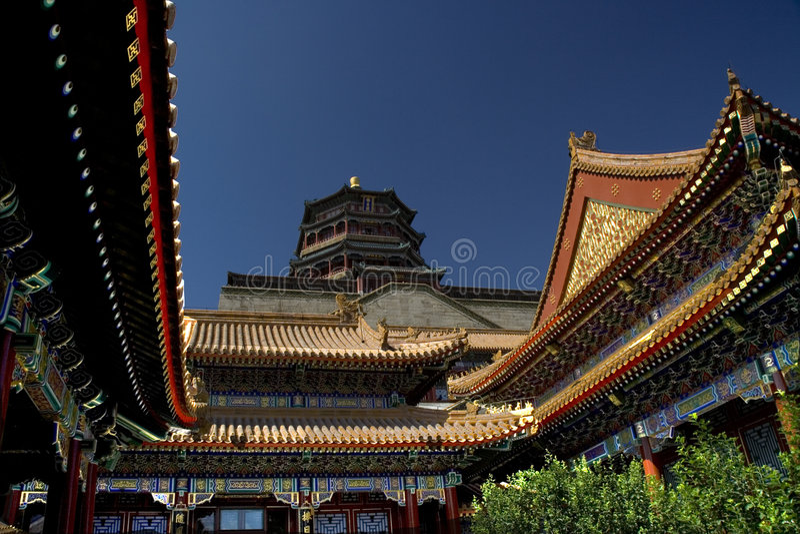 Summer Palace, Beijing, China. The Chinese government has restored the Summer Palace for the Beijing Olympics royalty free stock photos