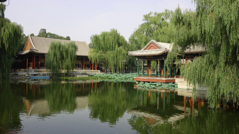 Summer Palace Beijing. The Summer Palace in Beijing, China. Il palazzo estivo dell`imperatore a Pechino, Cina stock image