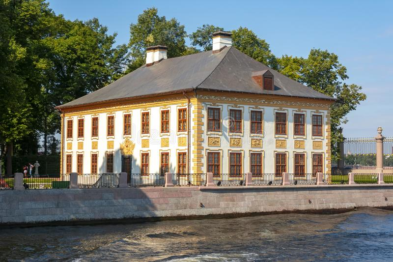 Summer Palace of Peter the Great in Summer garden, St. Petersburg, Russia royalty free stock image