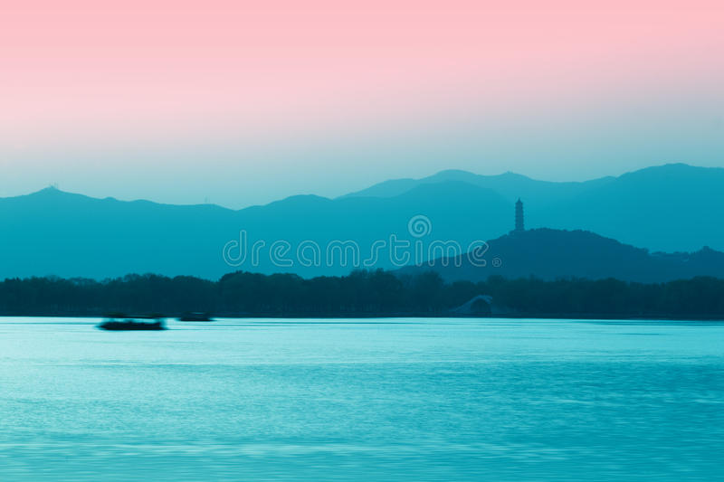 Summer Palace Sunset Royalty Free Stock Images