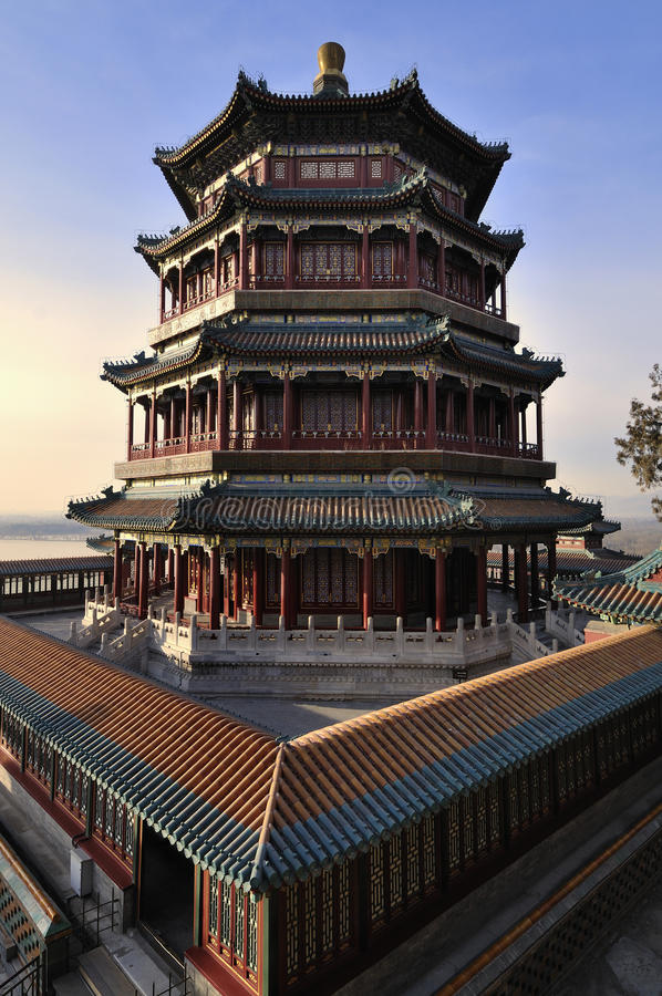 Summer Palace- Tower of Buddhist Incense(foxiangge stock photography