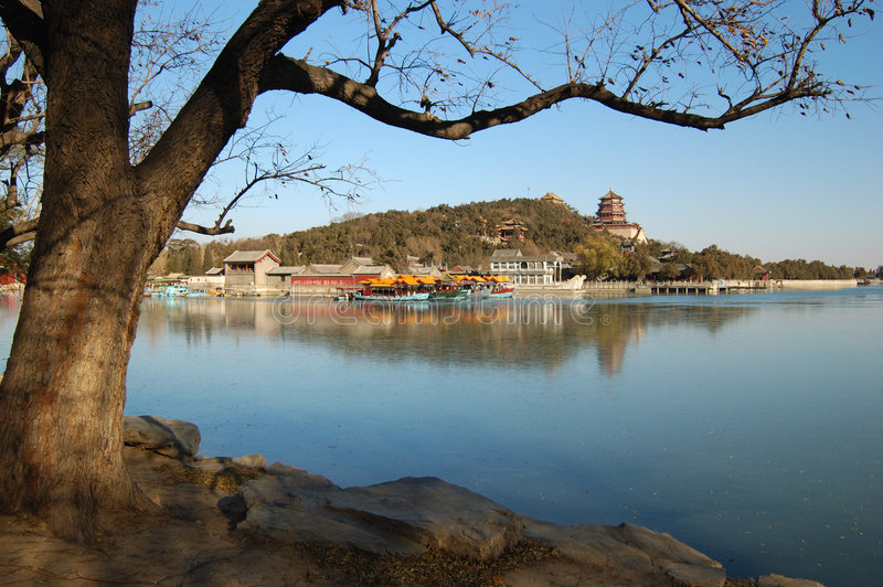 Summer Palace In The Winter Royalty Free Stock Photography