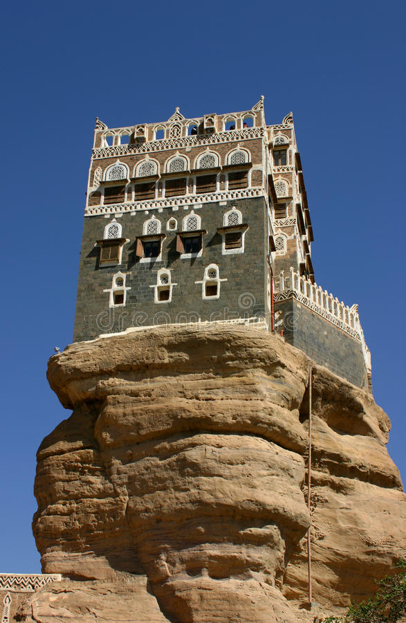 Summer palace, Yemen stock photo