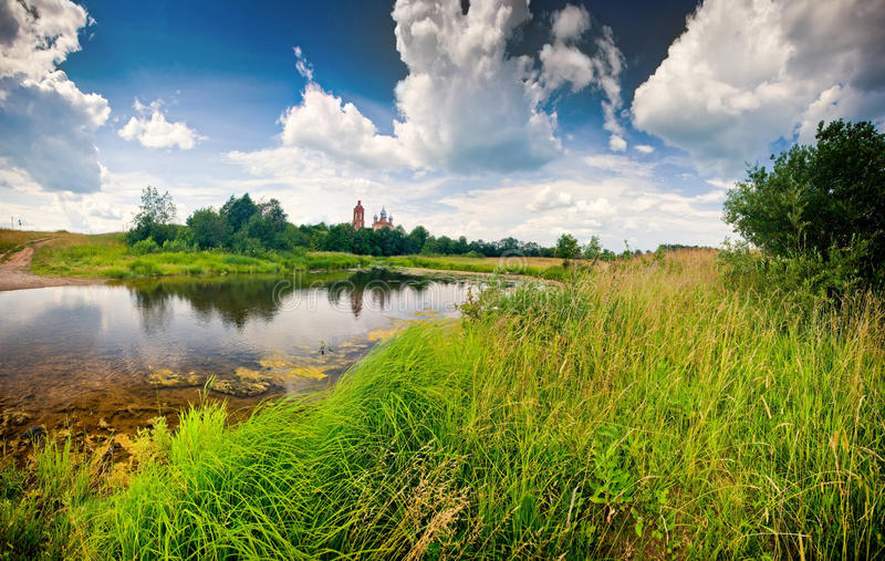 Summer panorama royalty free stock image