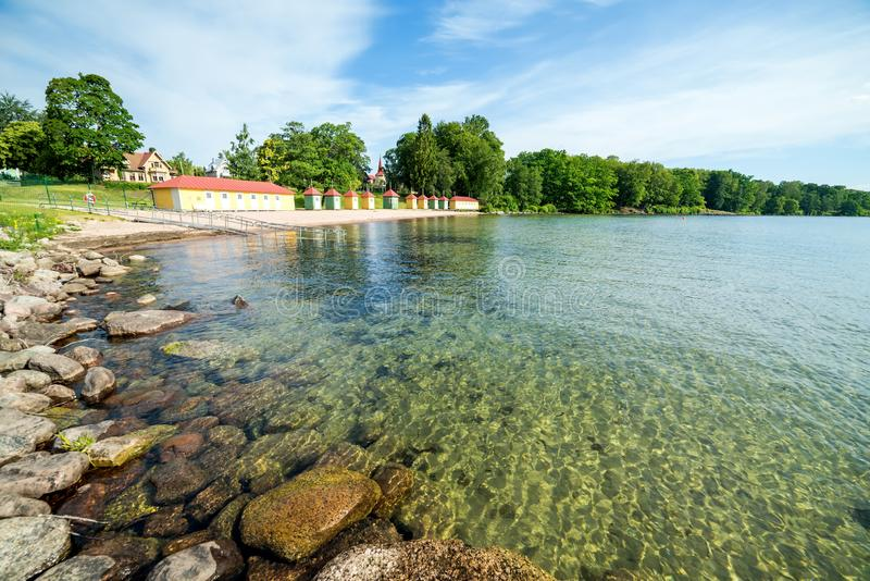 Summer panorama landscape in Sweden stock photos